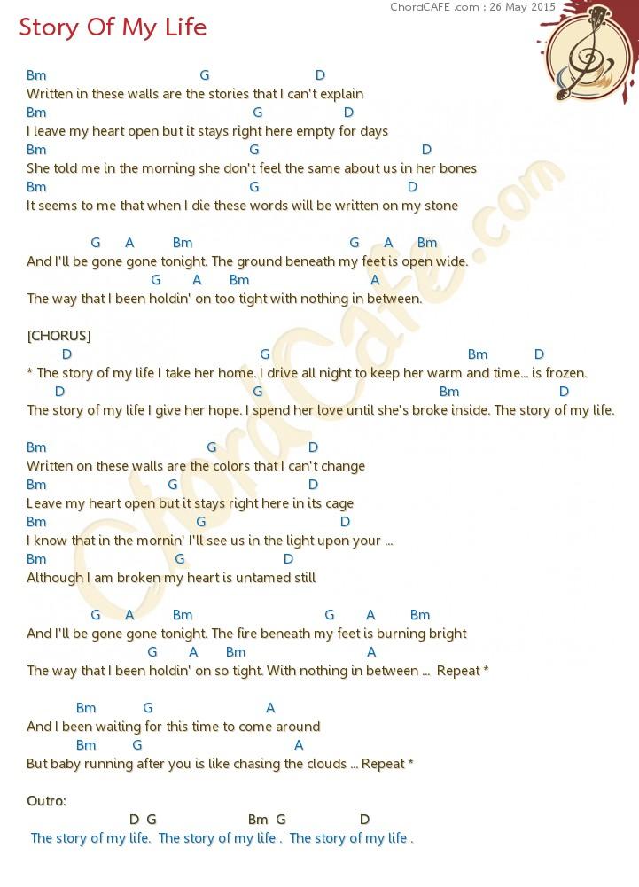 คอร์ด Story Of My Life - รูปภาพ Download | ChordCafe